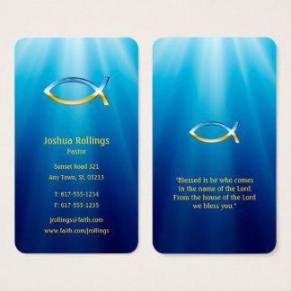 Christelijk Inspirerend Symbool   van Vissen Visitekaartjes