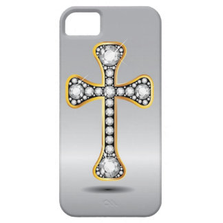 """Christelijk Kruis met de Stenen van de """"Diamant"""" Barely There iPhone 5 Hoesje"""