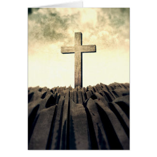 Christelijk Kruis op Berg Kaart
