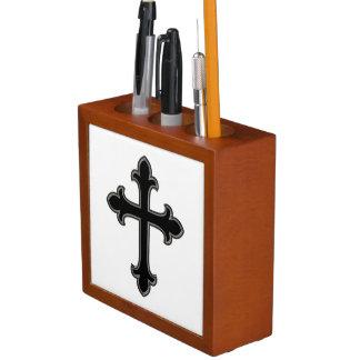 Christelijk kruis pennenhouder