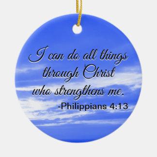 Christelijk Vers I van de Bijbel kan Al Citaat van Rond Keramisch Ornament