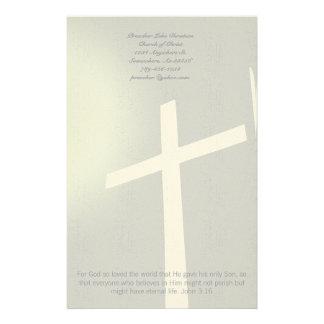 Christelijke DwarsKantoorbehoeften op Grijs Briefpapier