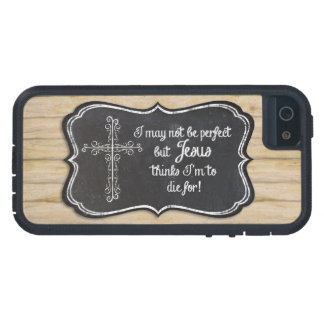 Christelijke Inspirerend Jesus Cross Chalkboard Tough Xtreme iPhone 5 Hoesje