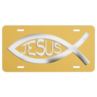 Christelijke Jesus Fish Nummerplaat