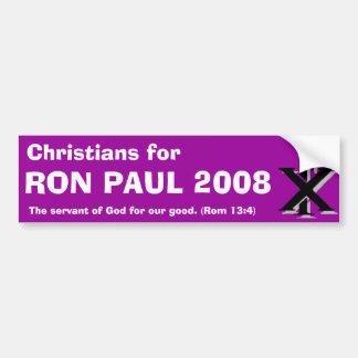 Christenen voor Ron Paul Bumpersticker
