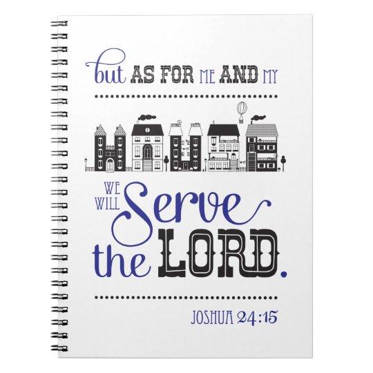 Christian Notebook Lines Bible Verse Joshua 24:15 Notitieboek