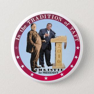 Christie voor President 2016 Ronde Button 7,6 Cm