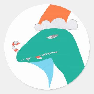 Christmasaurus Ronde Sticker
