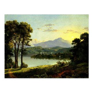Christopher Cranch - Uitzicht op Hudson Briefkaart