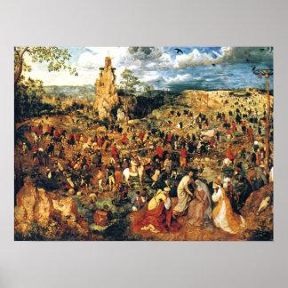 Christus die DwarsPieter Bruegel Ouder vervoert Poster