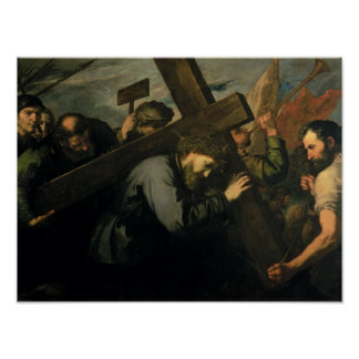 Christus die Kruis, 1635 dragen Poster