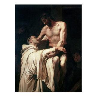 Christus die St. Bernard omhelzen Briefkaart