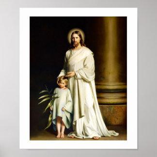 """""""Christus en Kind die"""" door Carl Bloch schilderen. Poster"""