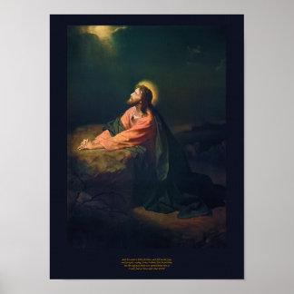 Christus in Gethsemane - Heinrich Hofmann 1890 Poster