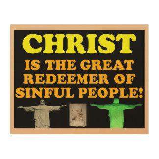 Christus is de Grote Verlosser van Zondige Mensen! Hout Afdruk