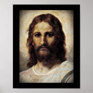 Christus met Medelevende Ogen Poster