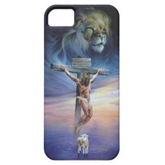 Christus op het Kruis op iPhone 5/5S, nauwelijks Barely There iPhone 5 Hoesje
