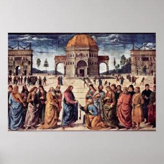 Christus overhandigt St. Peter de Sleutels aan het Poster