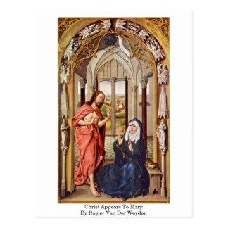 Christus verschijnt aan Mary door Rogier van der Briefkaart