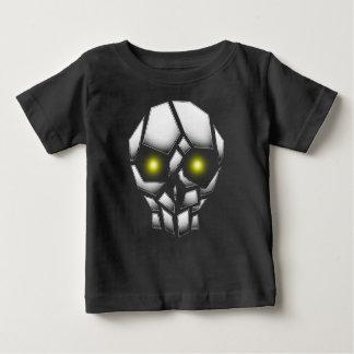 Chroom Geplateerde Schedel met Gloeiende Ogen Baby T Shirts
