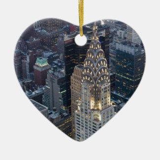 Chrysler die de LuchtHorizon NYC bouwen van de Keramisch Hart Ornament