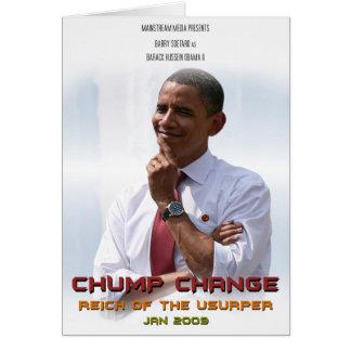 Chump Verandering (Obama) Briefkaarten 0
