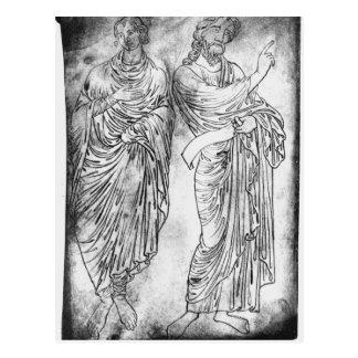 Cijfers van twee apostelen of helderzienden briefkaart