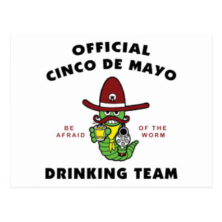 Cinco DE die Mayo Team drink Briefkaart