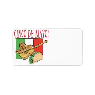 Cinco DE Mayo Addressticker