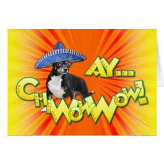 Cinco DE Mayo - Ay ChWowWow! - Chihuahua Wenskaart