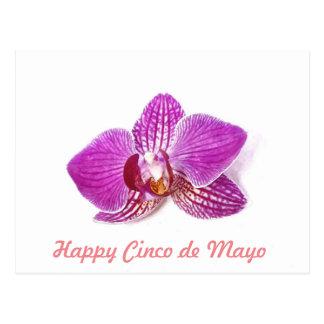 Cinco DE Mayo, bloemen de waterverfart. van de Briefkaart