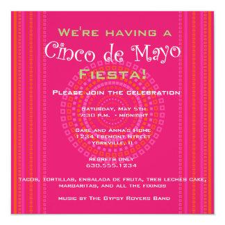 Cinco DE Mayo/de Uitnodiging van de Fiesta