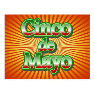 Cinco DE Mayo Mexico 5 Mei Ontwerp Briefkaart