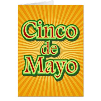 Cinco DE Mayo Mexico 5 Mei Ontwerp Wenskaart