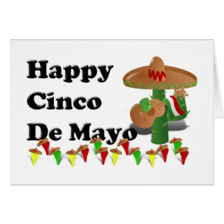 Cinco DE Mayo Notitiekaart