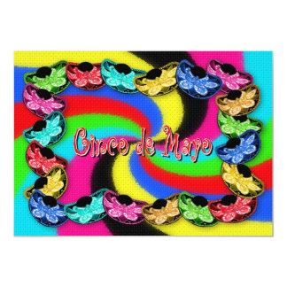Cinco DE Mayo - sombrero-Kleurrijke Uitnodiging -