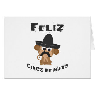 Cinco DE Mayo van Feliz - Aap Notitiekaart