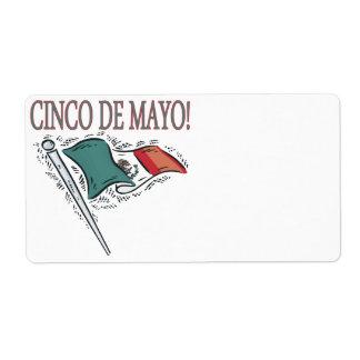 Cinco DE Mayo Verzendlabel