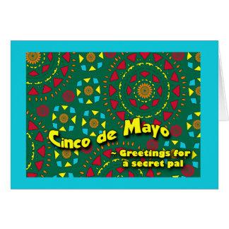 Cinco DE Mayo voor Geheime Vriend, Kleurrijk Briefkaarten 0
