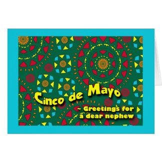 Cinco DE Mayo voor Neef, het Kleurrijke Ontwerp Wenskaart