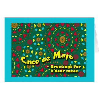 Cinco DE Mayo voor Nicht, het Kleurrijke Ontwerp Wenskaart