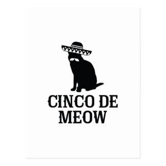 Cinco DE Meow Briefkaart