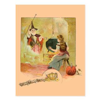 Cinderella en Haar Moeder van de God van de Fee Briefkaart