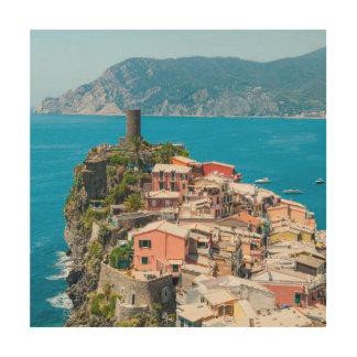 Cinque Terre Italië Hout Afdruk