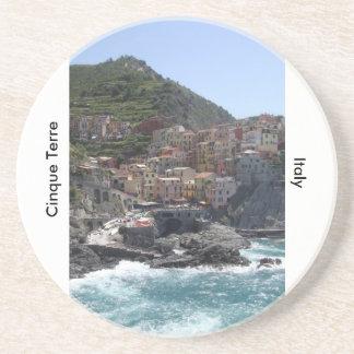 Cinque Terre, Italië Zandsteen Onderzetter