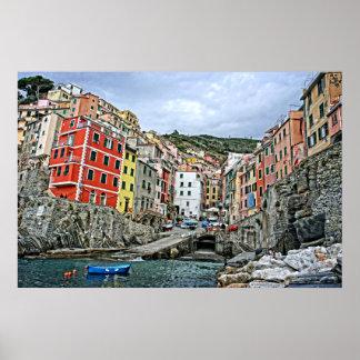 Cinque Terre - Riomaggiore, Italië 24x36 Poster