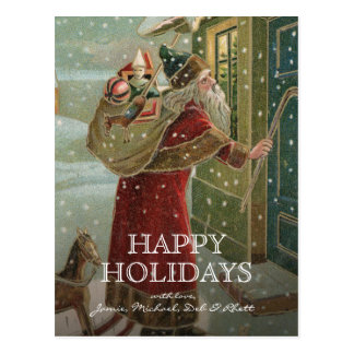circa 1906:  De Kerstman Briefkaart
