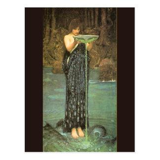 Circe Invidiosa - 1892 door John William Briefkaart