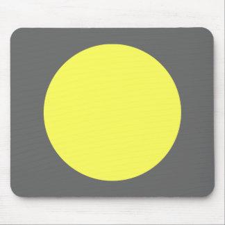 Cirkel - Lt. Yellow en Grijs Muismat