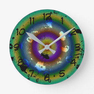 Cirkel Multicolored Abstract Patroon Ronde Klok